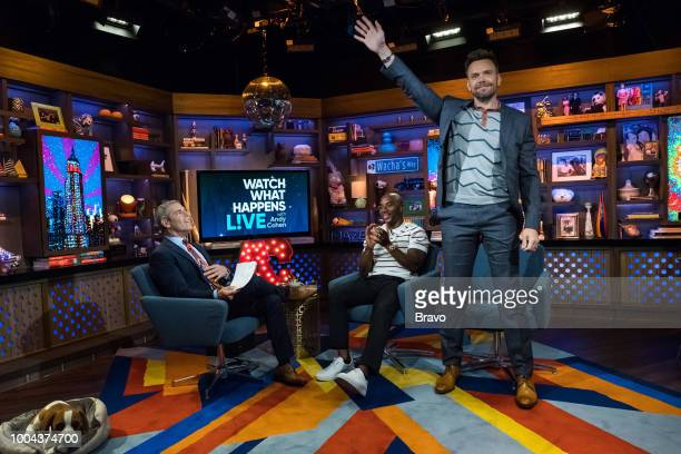 Andy Cohen Charlamagne Tha God and Joel McHale