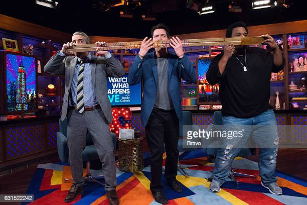 Andy Cohen Charlie Sheen and Craig Robinson