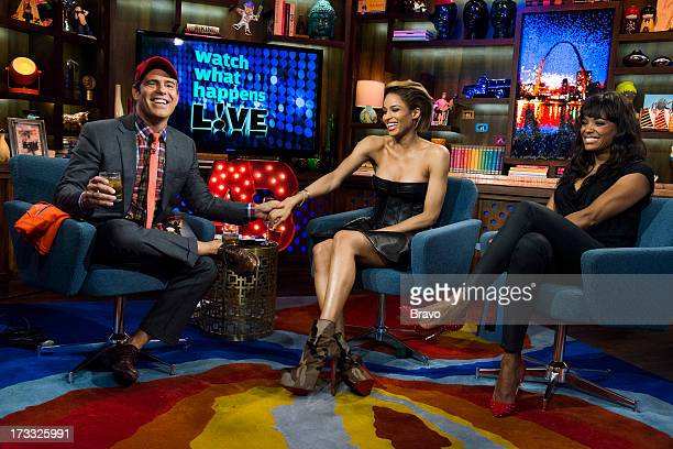 Andy Cohen Ciara and Aisha Tyler Photo by Charles Sykes/Bravo/NBCU Photo Bank via Getty Images