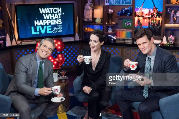 Andy Cohen Claire Foy and Matt Smith
