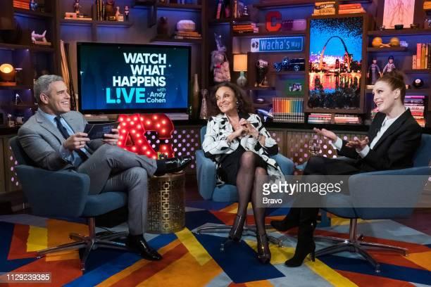 Andy Cohen Diane von Furstenburg and Julianne Moore