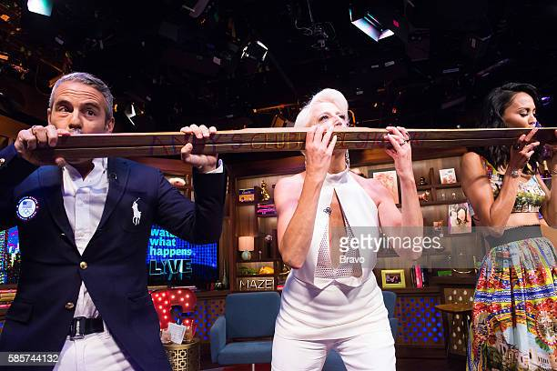 Andy Cohen Dorinda Medley and Jules Wainstein