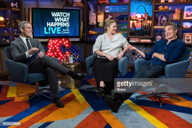 Andy Cohen Drew Barrymore and Timothy Olyphant