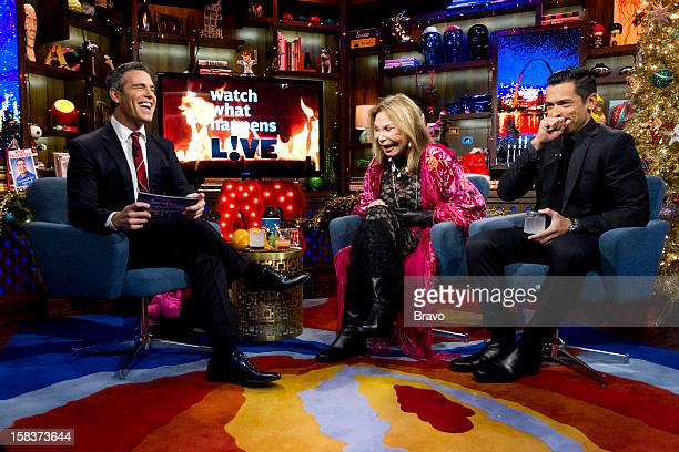 Andy Cohen Elsa Patton Mark Consuelos Photo by Charles Sykes/Bravo/NBCU Photo Bank via Getty Images