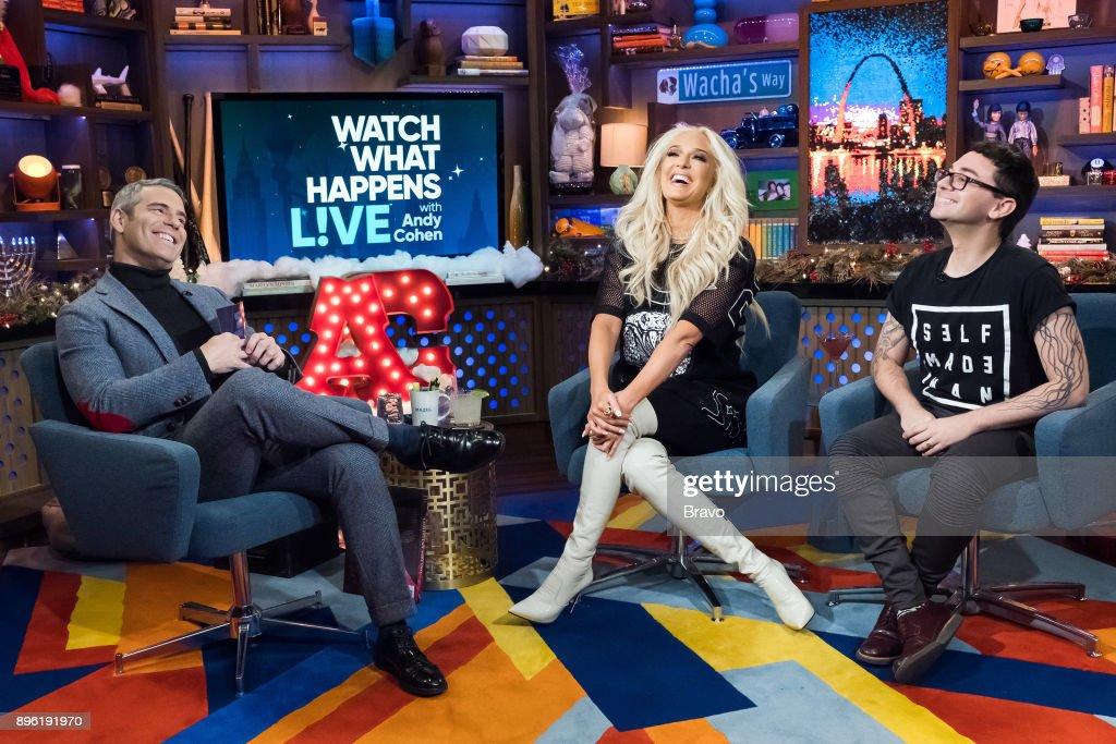 Andy Cohen, Erika Jayne and Christian Siriano --