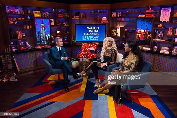Andy Cohen Erika Jayne and Kenya Moore