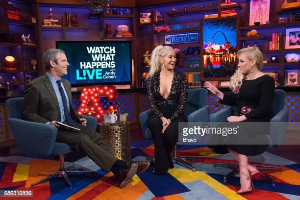 Andy Cohen Erika Jayne and Meghan McCain
