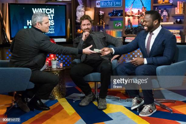 Andy Cohen Gerard Butler and 50 Cent
