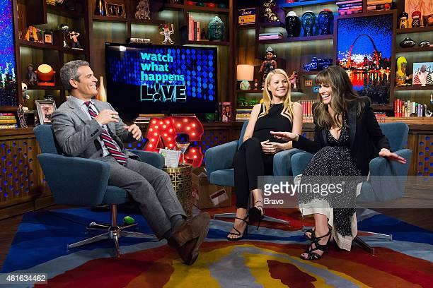 Andy Cohen Gwyneth Paltrow and Amanda Peet
