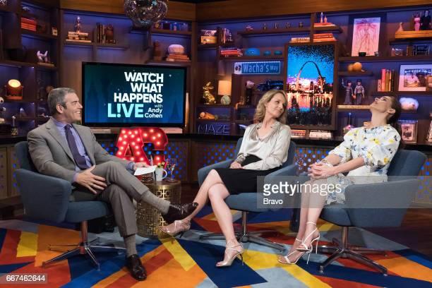Andy Cohen Helen Hunt and Amanda Peet