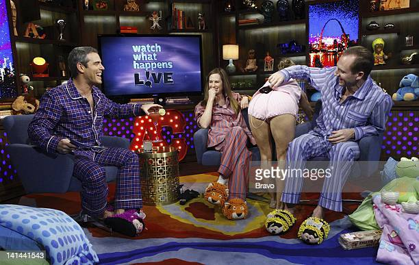 Andy Cohen Holly Hunter Amy Sedaris Ralph Fiennes Photo by Peter Kramer/Bravo/NBCU Photo Bank
