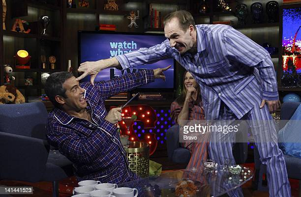Andy Cohen Holly Hunter Ralph Fiennes Photo by Peter Kramer/Bravo/NBCU Photo Bank