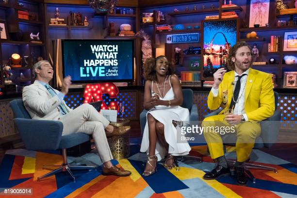 Andy Cohen Issa Rae and T J Miller