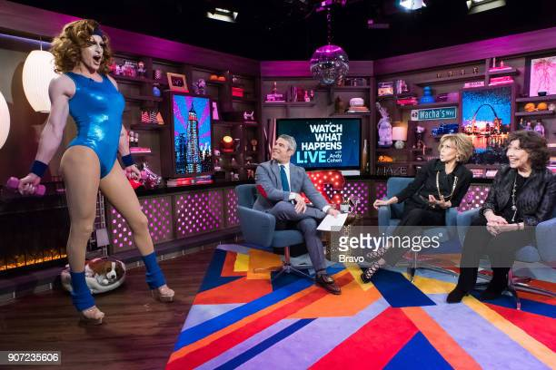 Andy Cohen Jane Fonda and Lily Tomlin