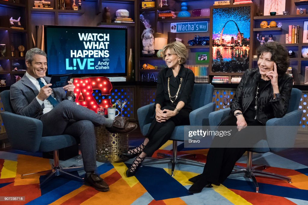 Andy Cohen, Jane Fonda and Lily Tomlin --