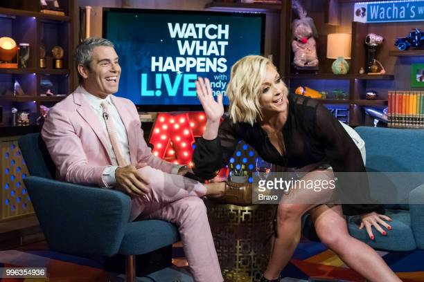 Pictured : Andy Cohen, Jane Krakowski and Brooke Laughton --