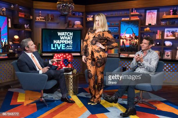 Andy Cohen Jemima Kirke and Dennis Quaid