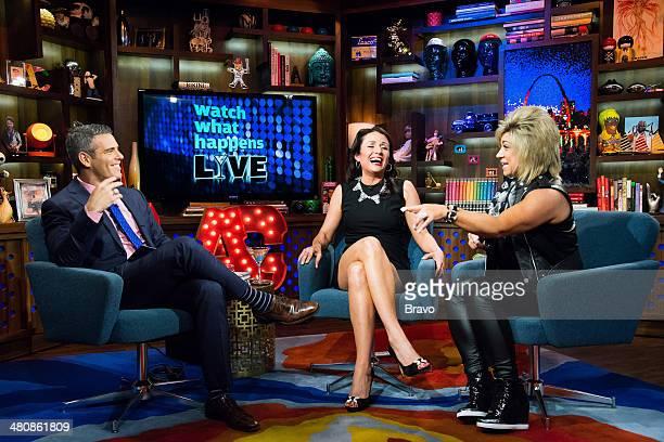 Andy Cohen Jenni Pulos and Theresa Caputo