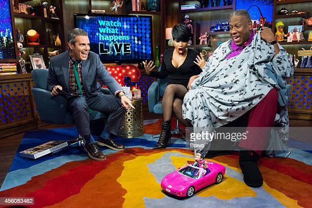 Andy Cohen Jennifer Hudson and Andre Leon Tailey
