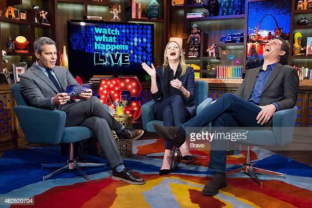 Andy Cohen Jennifer Nettles and Tony Goldwyn
