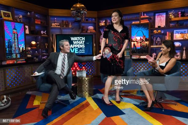 Andy Cohen Jennifer Tilly and Peggy Sulahian