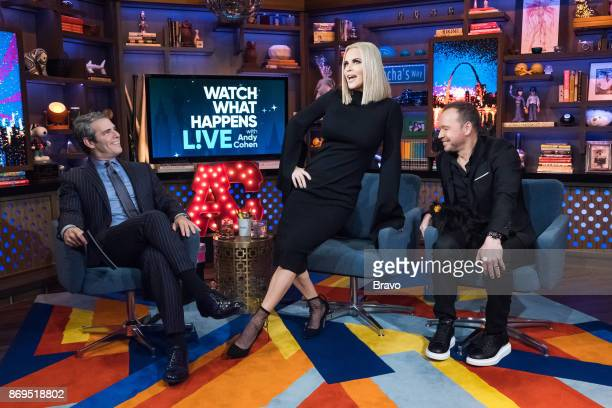 Andy Cohen Jenny McCarthy and Donnie Wahlberg
