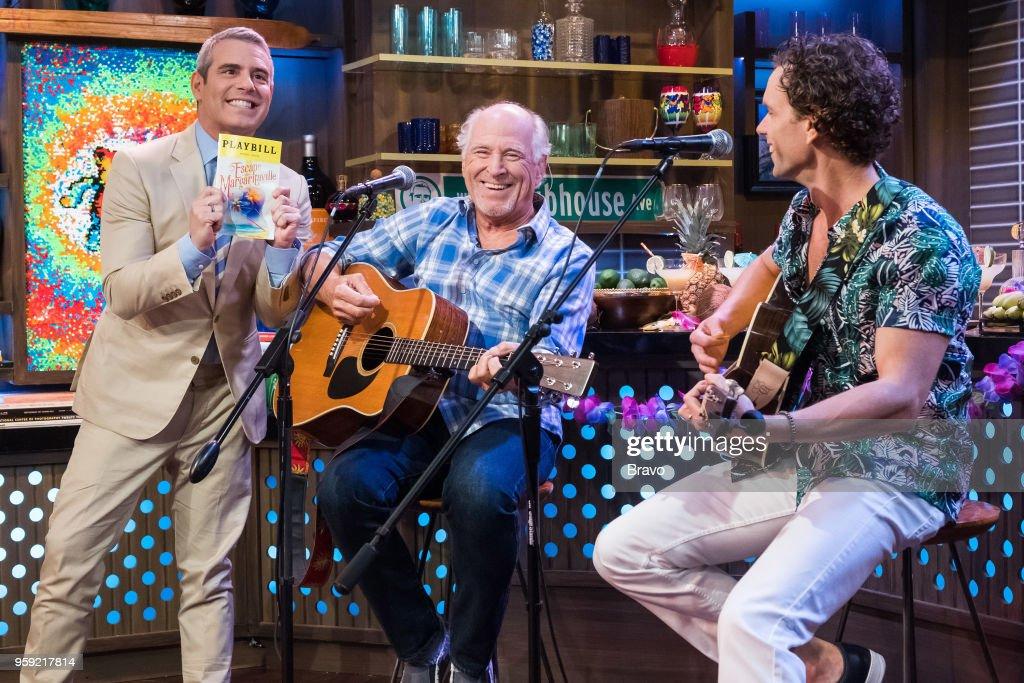 Andy Cohen, Jimmy Buffett and Paul Alexander Nolan --