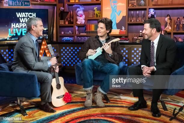 Andy Cohen Jimmy Kimmel and John Mayer