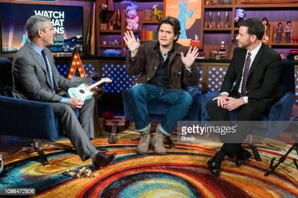 Andy Cohen John Mayer and Jimmy Kimmel