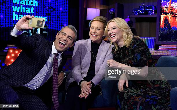 Andy Cohen Julie Andrews and Cate Blanchett