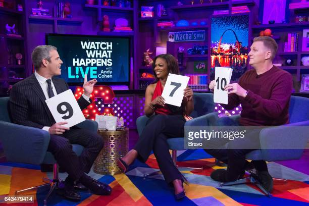 Andy Cohen Kandi Burruss and Michael Rapaport