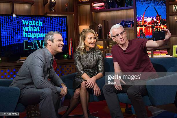 Andy Cohen Kelly Ripa and Anderson Cooper