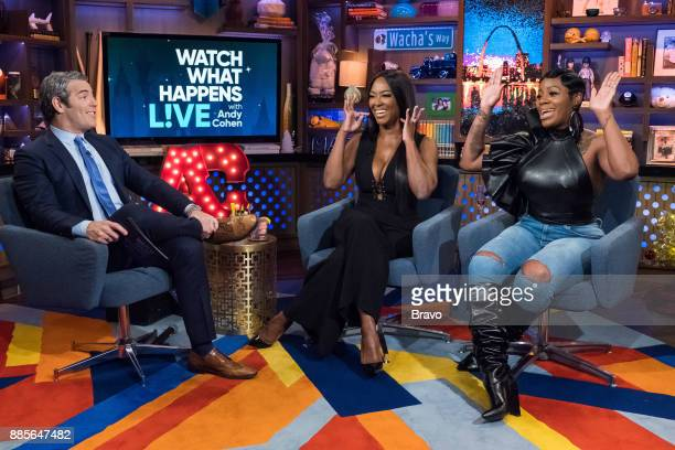 Andy Cohen Kenya Moore and Fantasia Barrino
