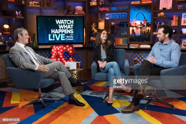 Andy Cohen Keri Russell and Matthew Rhys