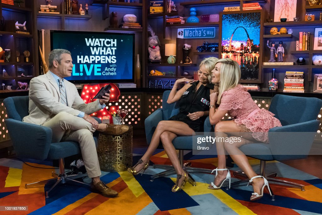 Andy Cohen, Kristin Chenoweth and Tinsley Mortimer --