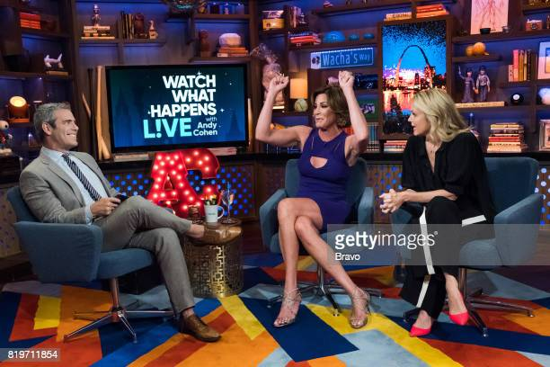Andy Cohen Luann D'Agostino and Ali Wentworth