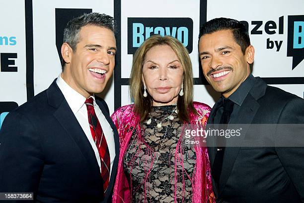 Andy Cohen Mama Elsa and Mark Consuelos Photo by Charles Sykes/Bravo/NBCU Photo Bank via Getty Images