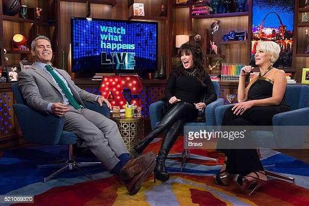 Andy Cohen Marie Osmond and Dorinda Medley
