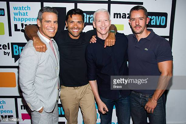 Andy Cohen Mark Consuelos Anderson Cooper and Benjamin Maisani