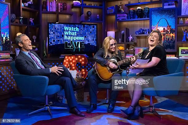 Andy Cohen Melissa Etheridge and Kelly Clarkson