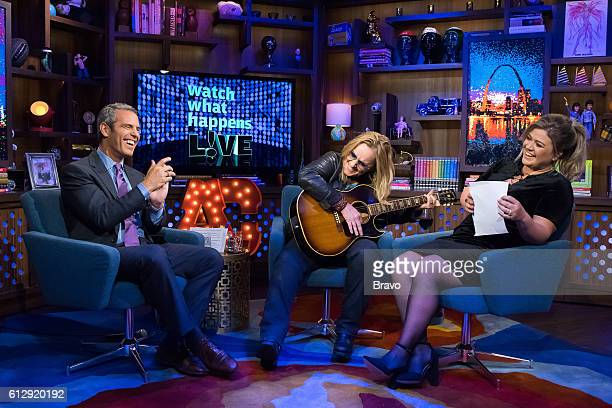 Andy Cohen Melissa Etheridge and Kelly Clarkson