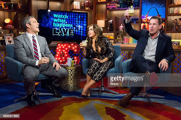 Andy Cohen Mercedes Javid and Thomas Ravenel