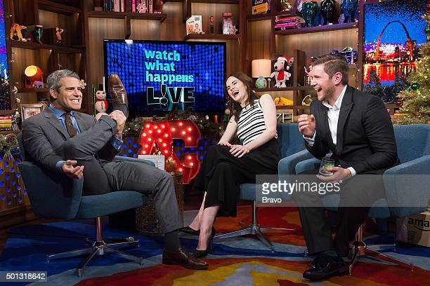 Andy Cohen Michelle Dockery and Allen Leech