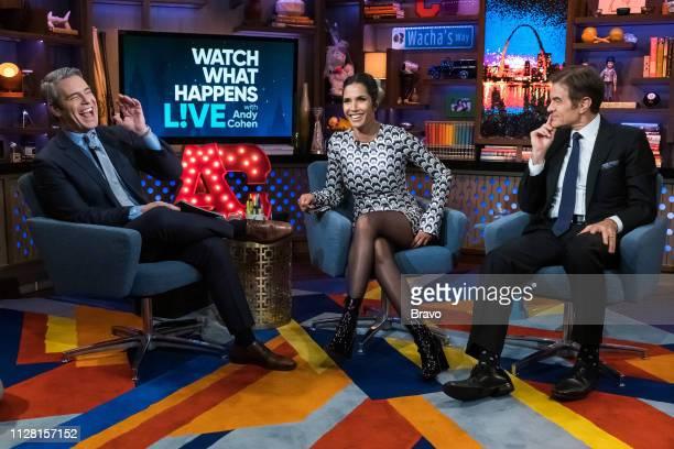 Andy Cohen Padma Lakshmi and Dr Mehmet Oz