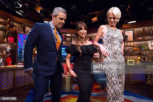 Andy Cohen Paula Abdul and Dorinda Medley