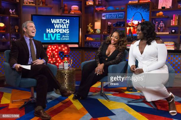 Andy Cohen Phaedra Parks and Danielle Brooks