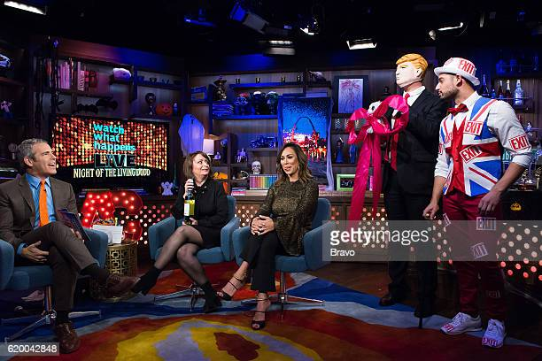 Andy Cohen Rachel Dratch and Kelly Dodd