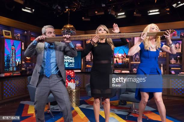 Andy Cohen Ramona Singer and Alex McCord