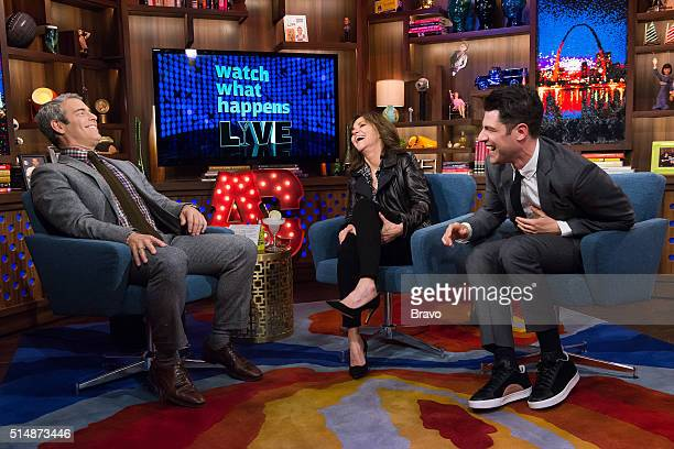Andy Cohen Sally Field and Max Greenfield