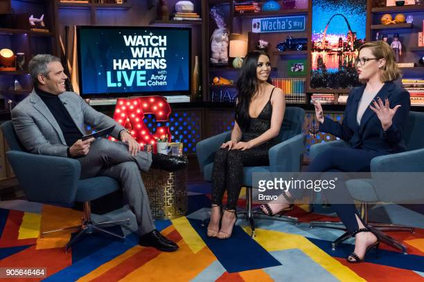 Andy Cohen Scheana Marie and S E Cupp